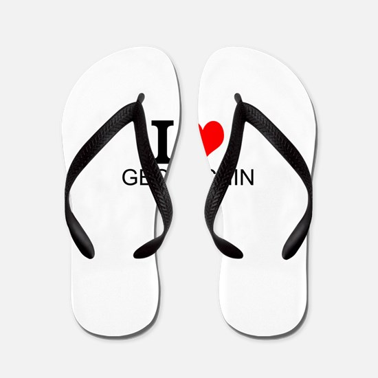 I Love Geocaching Flip Flops