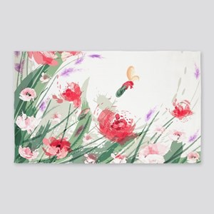 Flowers Painting Area Rug