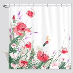 Flowers Painting Shower Curtain