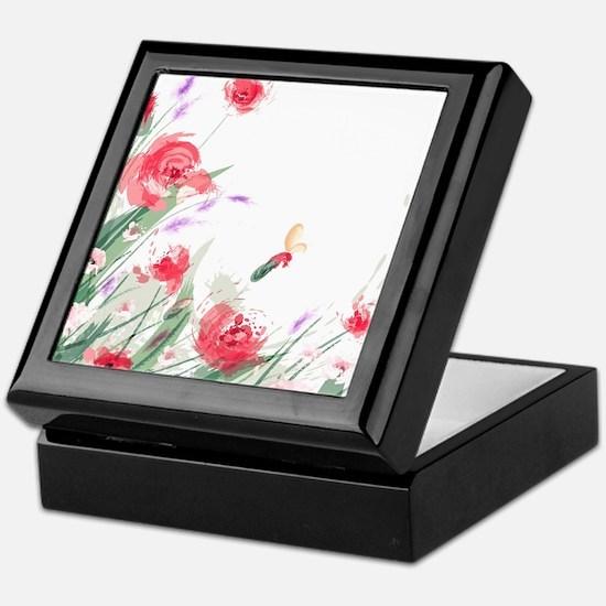 Flowers Painting Keepsake Box