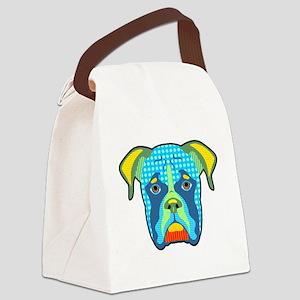 Boxer Pattern Pop Art Canvas Lunch Bag