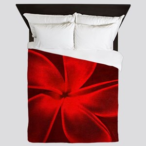 Flower Tropical Red Queen Duvet