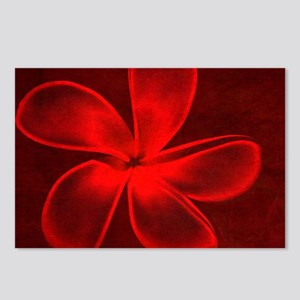 Flower Tropical Red Postcards (Package of 8)