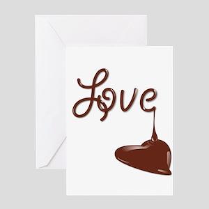 I love chocolate greeting cards cafepress love chocolate greeting cards m4hsunfo