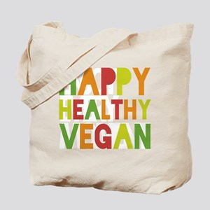 Happy Healthy Vegan Tote Bag