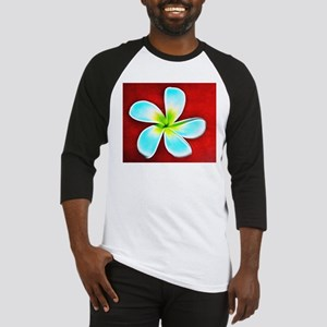 Flower Tropical Red White Turquois Baseball Jersey