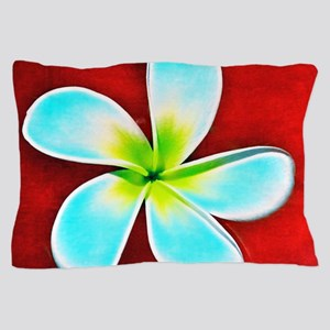 Flower Tropical Red White Turquoise Ye Pillow Case