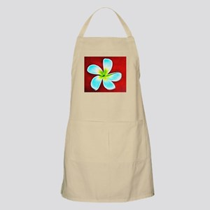 Flower Tropical Red White Turquoise Yellow Apron