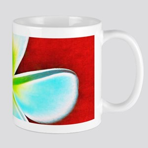 Flower Tropical Red White Turquoise Yellow Mugs