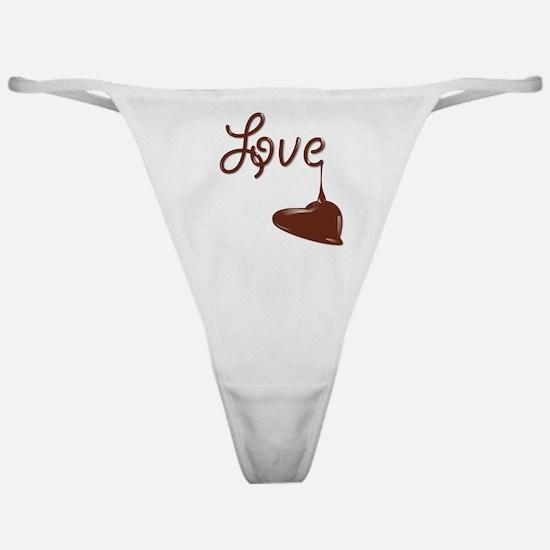 Love chocolate Classic Thong