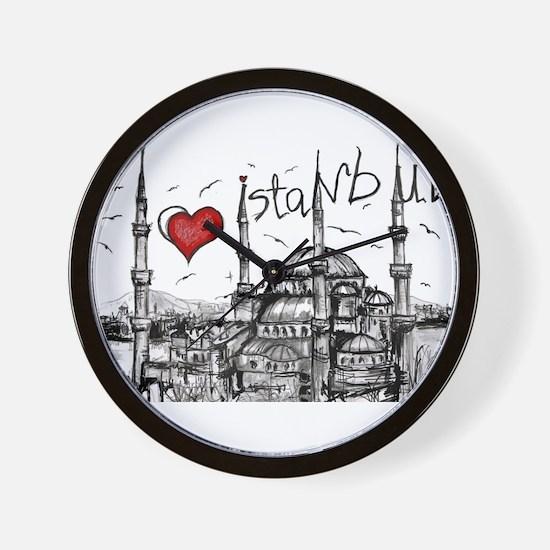 I love Istanbul Wall Clock