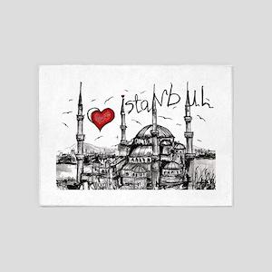 I love Istanbul 5'x7'Area Rug