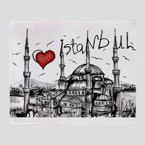 I love Istanbul Throw Blanket