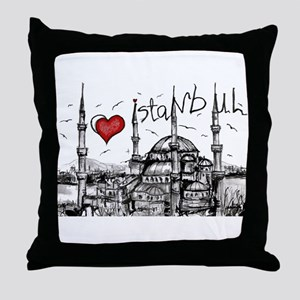I love Istanbul Throw Pillow