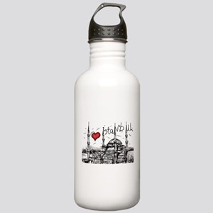 I love Istanbul Stainless Water Bottle 1.0L