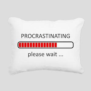 Procrastinating Please W Rectangular Canvas Pillow