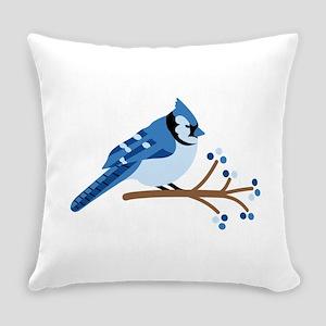 Christmas Blue Jays Everyday Pillow
