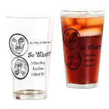 Funny Pool Hall Junkie Cartoon Drinking Glass