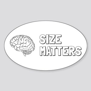 Size Matters Sticker (Oval)