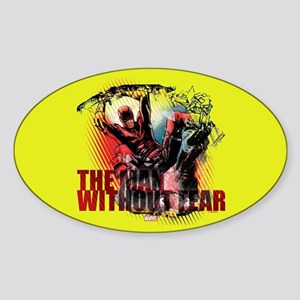 Daredevil Man Without Fear Sticker (Oval)
