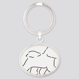 Bichon pen and ink Keychains