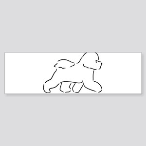 Bichon pen and ink Bumper Sticker