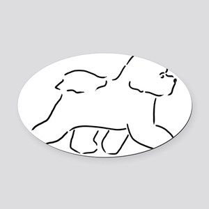 Bichon pen and ink Oval Car Magnet