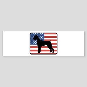 American Giant Schnauzer Bumper Sticker