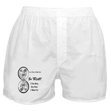 Funny Pool Hall Junkie Cartoon Boxer Shorts