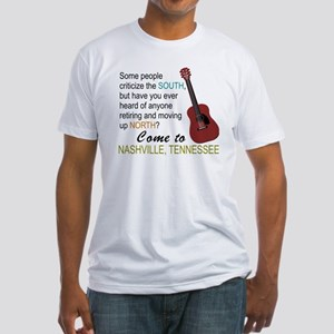 Come to Nashville-01 Fitted T-Shirt