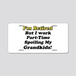I'm Retired Aluminum License Plate