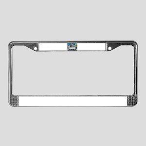 sweet pug bathtime License Plate Frame