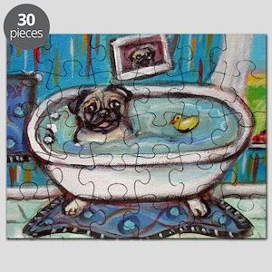 sweet pug bathtime Puzzle