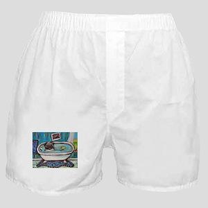 sweet pug bathtime Boxer Shorts