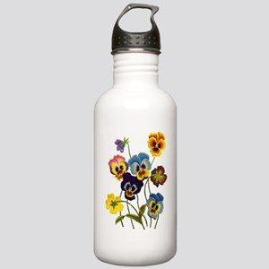 Colorful Embroidered P Stainless Water Bottle 1.0L