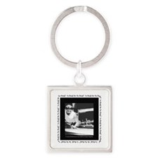 Power Break Billiards Square Keychain