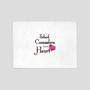 Teachers Have Heart counselors 5'x7'Area Rug