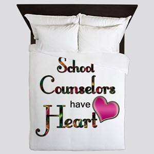 Teachers Have Heart counselors Queen Duvet