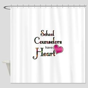 Teachers Have Heart counselors Shower Curtain