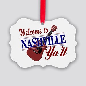 Welcome to Nashville Ya'll-01 Picture Ornament