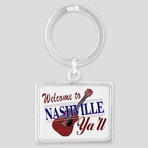 Welcome to Nashville Ya'll-01 Landscape Keychain