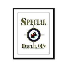 Special Hustler Ops Billiards Framed Panel Print