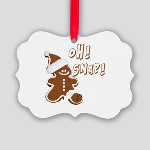 OH SNAP Gingerbread Man Picture Ornament