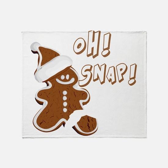 OH SNAP Gingerbread Man Throw Blanket