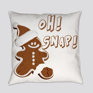 OH SNAP Gingerbread Man Everyday Pillow