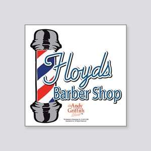 "Floyds Barber Shop Square Sticker 3"" x 3"""