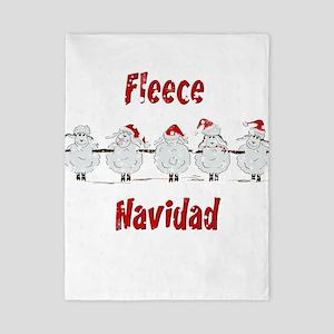 FUNNY Christmas Fleece Navidad Sheep Twin Duvet