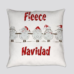 FUNNY Christmas Fleece Navidad Sh Everyday Pillow