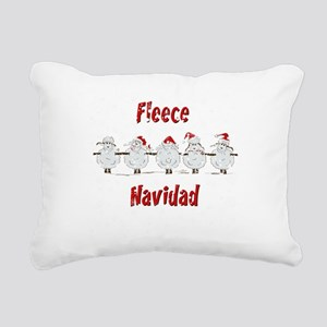 FUNNY Christmas Fleece Rectangular Canvas Pillow