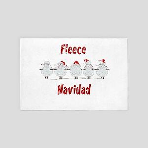 FUNNY Christmas Fleece Navidad Sheep 4' x 6' Rug